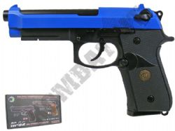WE M92 Beretta Replica Airsoft Pistol Gas Blowback BB Gun Black & 2 Tone Metal